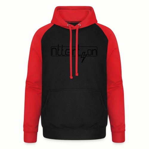 attention - Unisex baseball hoodie