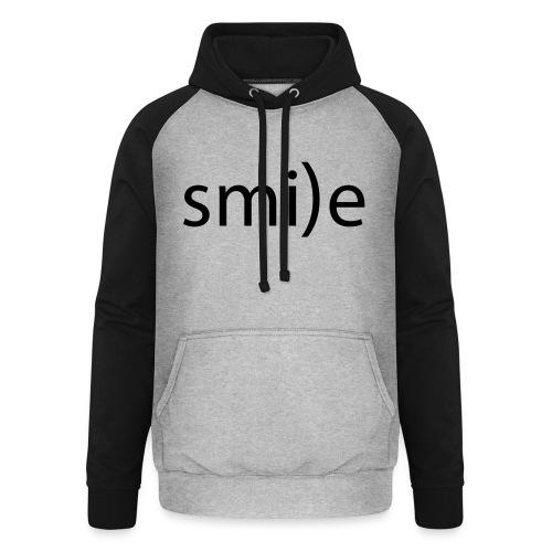 smile Emoticon lächeln lachen Optimist positiv yes - Unisex Baseball Hoodie