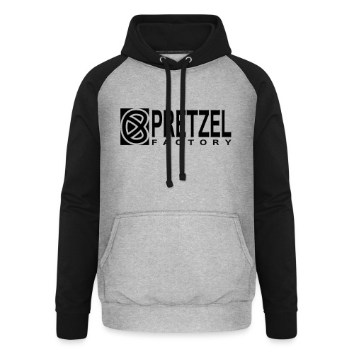 Pretzel Factory Logo Noir - Sweat-shirt baseball unisexe