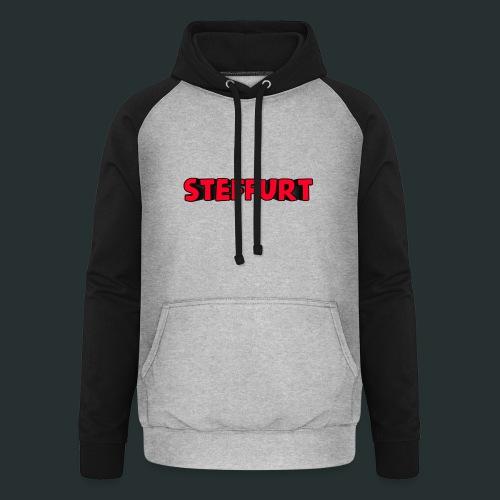 Steffurt LogoEffe zo weer weg xD - Unisex baseball hoodie