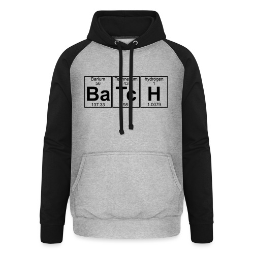 Ba-Tc-H (batch) - Full - Unisex Baseball Hoodie