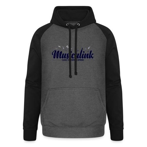 Musicalink blue - Sweat-shirt baseball unisexe