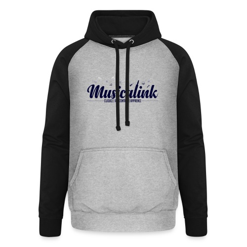 Musicalink blue - Sweat-shirt baseball unisexe