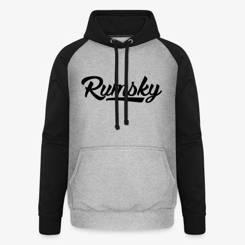 Rumsky-logo - Unisex baseball hoodie