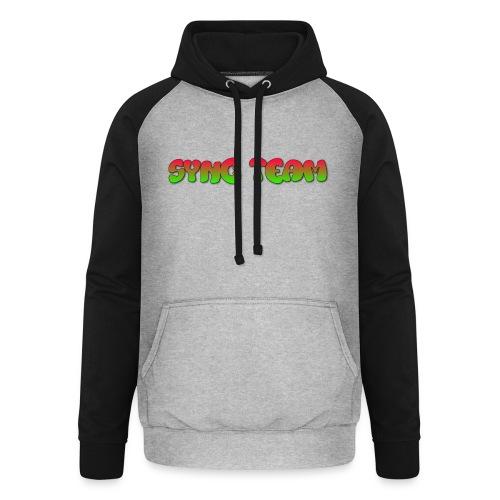 vêtement avec text SYNC TEAM - Sweat-shirt baseball unisexe