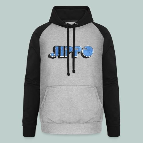 JIPPO LOGO (blue) - Unisex baseball-huppari