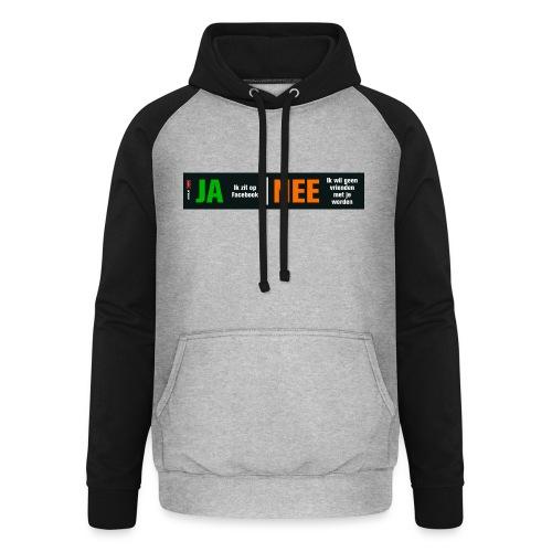 facebookvrienden - Unisex baseball hoodie