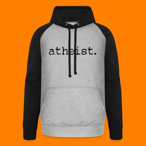 atheist BLACK - Unisex Baseball Hoodie
