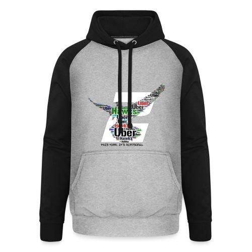 Uber Hawks 2 - Unisex Baseball Hoodie