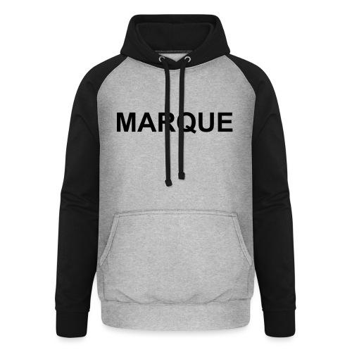 MARQUE - Sweat-shirt baseball unisexe