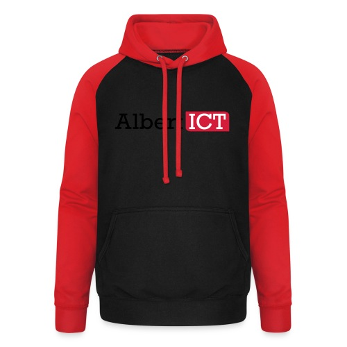 AlbertICT logo full-color - Unisex baseball hoodie