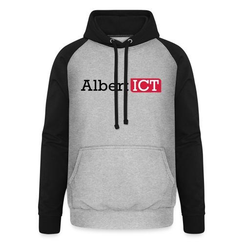 AlbertICT logo full-color - Unisex baseball hoodie