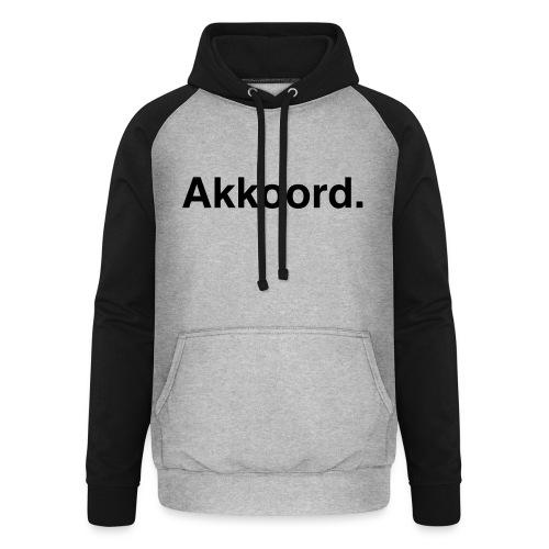 Akkoord - Unisex baseball hoodie