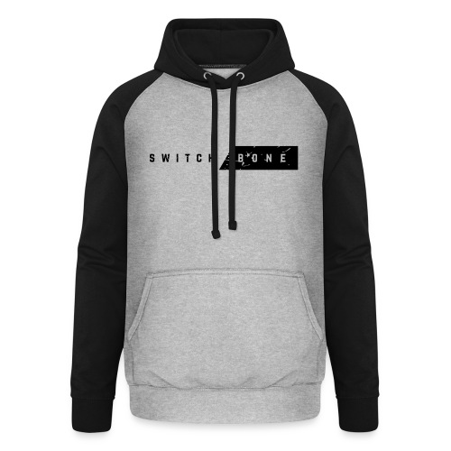 Switchbone_black - Unisex baseball hoodie