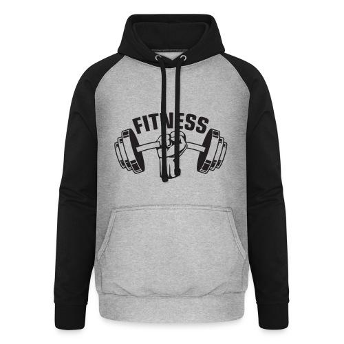 FITNESS - Unisex baseball hoodie