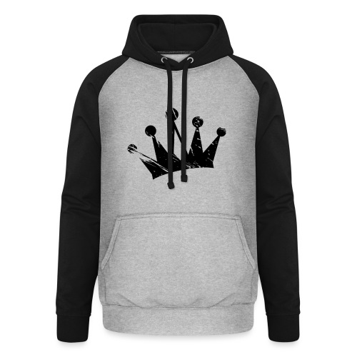 Faded crown - Unisex Baseball Hoodie