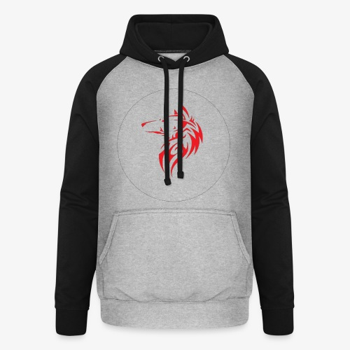 The NoCopyright BassBooster Logo No black - Unisex baseball hoodie