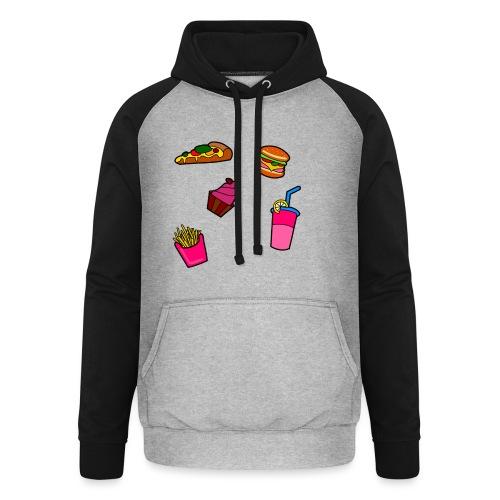 Fast Food Design - Unisex Baseball Hoodie