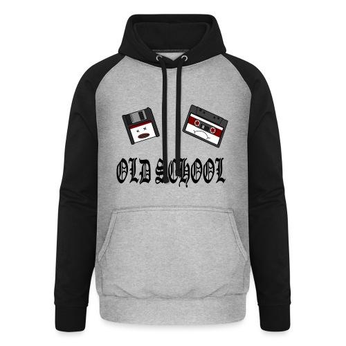Old School Design - Unisex Baseball Hoodie