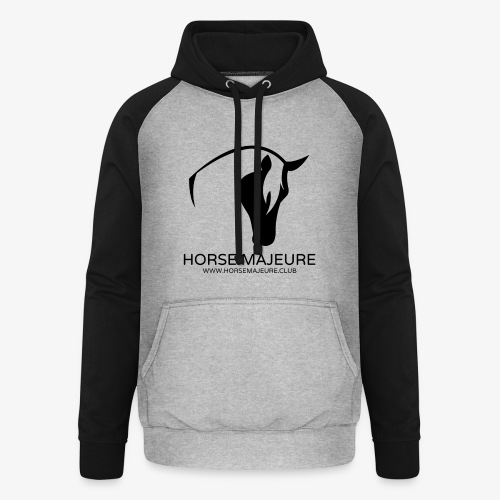 Horse Majeure Logo / Musta - Unisex baseball-huppari