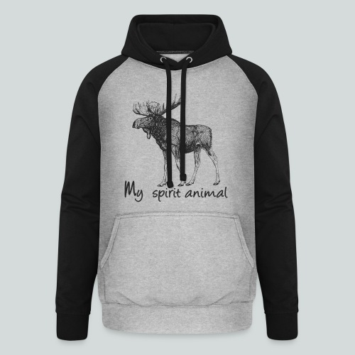 L'élan est mon animal totem - Sweat-shirt baseball unisexe