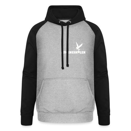 Hvidt logo - Unisex baseball hoodie