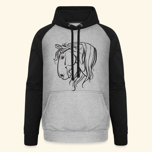 Cheval espagnol (noir) - Sweat-shirt baseball unisexe