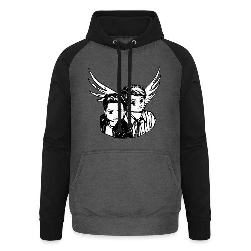 Destiel i sort/hvid - Unisex baseball hoodie