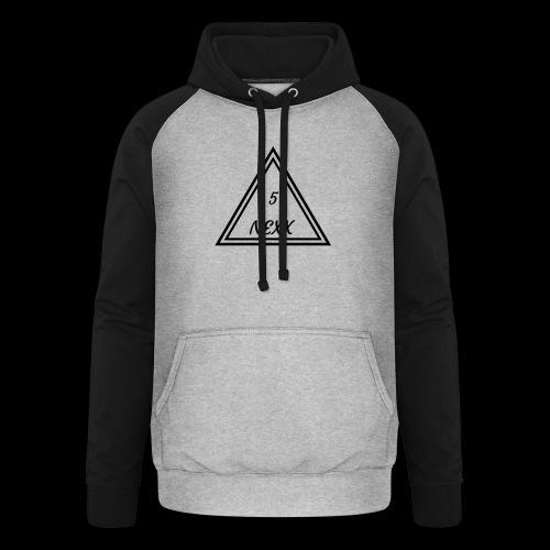 5nexx triangle - Unisex baseball hoodie