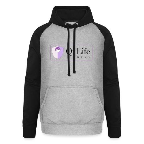 Qi Life Academy Promo Gear - Unisex Baseball Hoodie