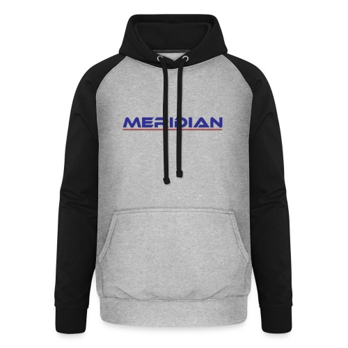 Meridian - Felpa da baseball con cappuccio unisex