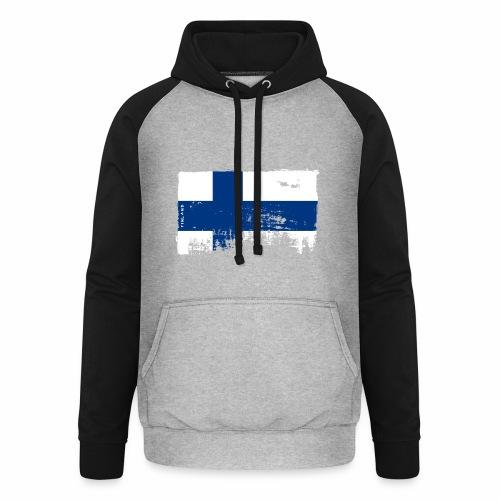 Suomen lippu, Finnish flag T-shirts 151 Products - Unisex baseball-huppari