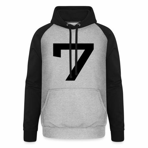 Numéro 7 - Sweat-shirt baseball unisexe