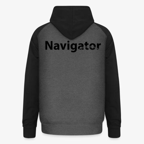 Navigator VIO combinatie zwart - Unisex baseball hoodie