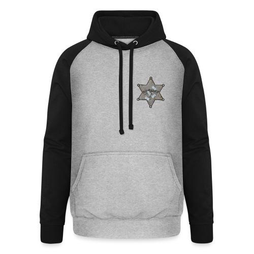 Rusty Sheriff's Badge - Unisex Baseball Hoodie