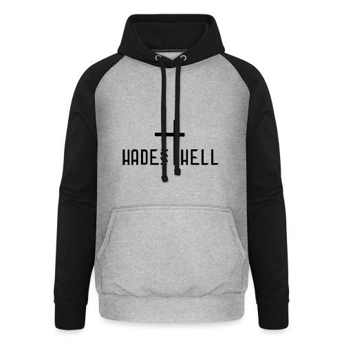 Hadeshell black - Unisex Baseball Hoodie
