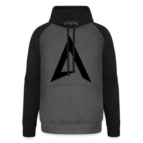 alpharock A logo - Unisex Baseball Hoodie