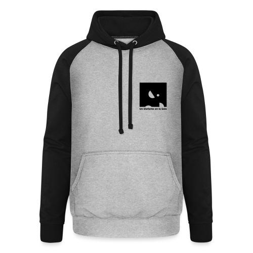 Logo Elefante Negro - Sudadera con capucha de béisbol unisex