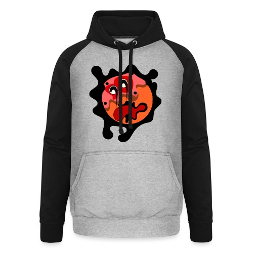 scary cartoon - Unisex baseball hoodie