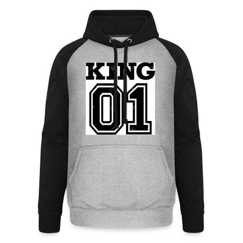 King 01 - Sweat-shirt baseball unisexe