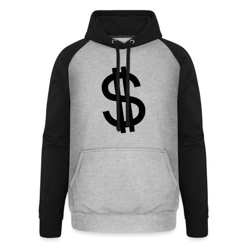 Dollar - Sudadera con capucha de béisbol unisex