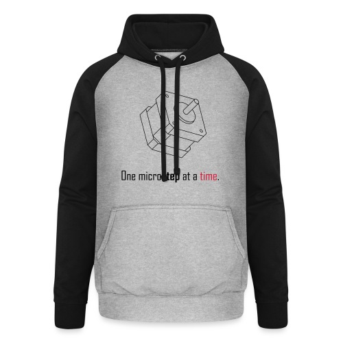 One microstep at a time. - Unisex Baseball Hoodie
