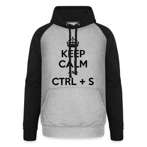 Keep Calm and CTRL+S - Sweat-shirt baseball unisexe