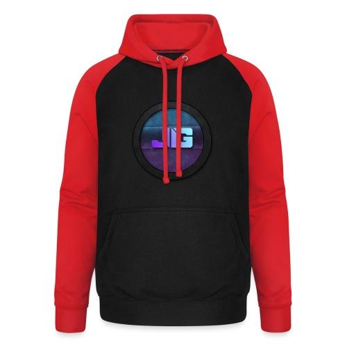Pet met Logo - Unisex baseball hoodie