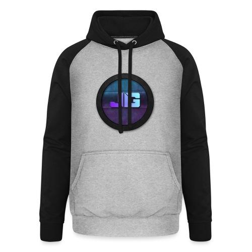 Trui met logo - Unisex baseball hoodie
