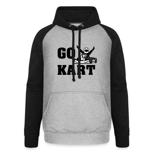 Go kart - Sweat-shirt baseball unisexe