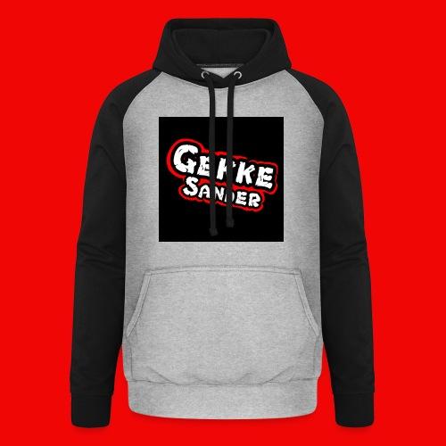 GekkeSander Logo - Unisex baseball hoodie