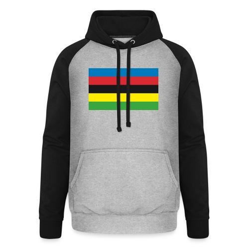 Cycling_World_Champion_Rainbow_Stripes-png - Unisex baseball hoodie