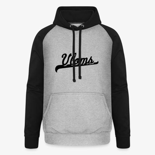 Zwart logo Vloms - Unisex baseball hoodie