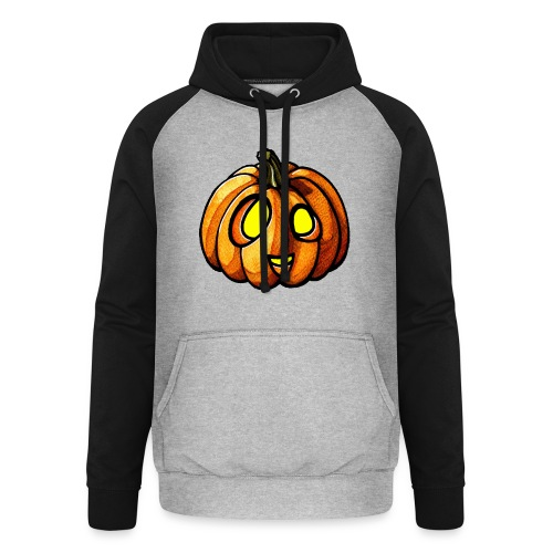 Pumpkin Halloween watercolor scribblesirii - Unisex Baseball Hoodie